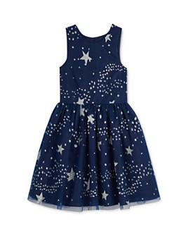 Pippa & Julie - Girls' Sparkle Star Print Dress - Little Kid