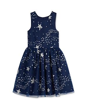 Pippa & Julie Girls' Sparkle Star Print Dress - Little Kid