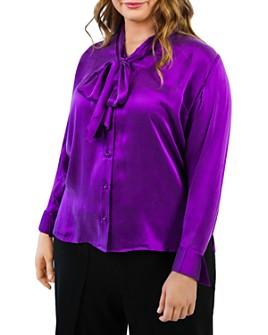 Maree Pour Toi Plus - Silk Tie-Neck Blouse