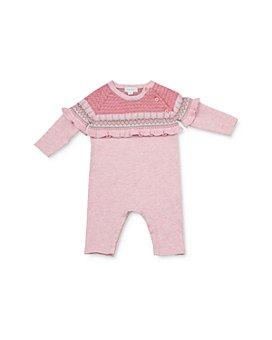 Angel Dear - Girls' Ruffled Knit Coverall - Baby