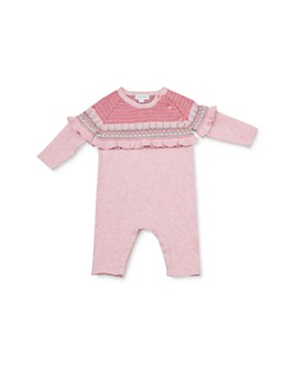 Angel Dear - Girls' Ruffled Knit Coverall - Baby
