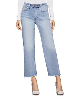 BCBGENERATION - Frayed Cropped Wide-Leg Jeans in Huntley