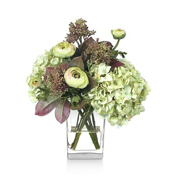 Diane James Home - Fall Hydrangea & Ranunculus Faux-Floral Arrangement
