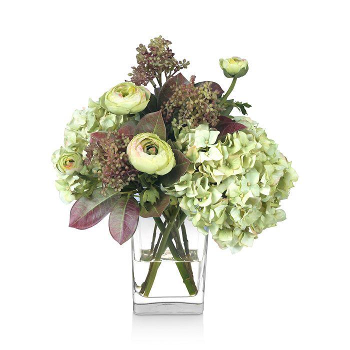 Diane James Home - Fall Hydrangea & Ranunculus Faux-Floral Arrangement