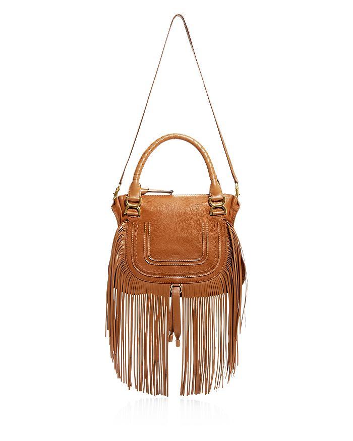 Chloé - Marcie Medium Fringed Leather Satchel