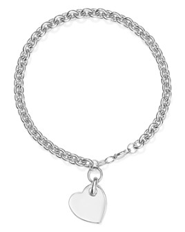 Bloomingdale's - Heart Tag Bracelet in Sterling Silver - 100% Exclusive