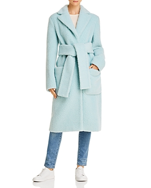 Helmut Lang Coats BELTED TEDDY COAT
