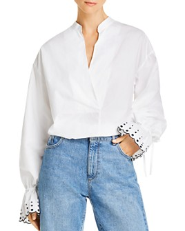 See by Chloé - Embroidered Balloon-Sleeve Blouse