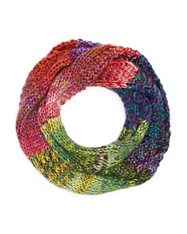 AQUA - Girls' Rainbow Knit Loop Scarf - 100% Exclusive