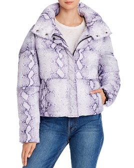 Apparis - Jamie Snake-Print Puffer Coat