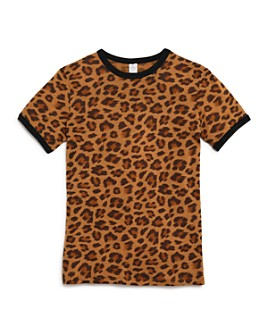 ALTERNATIVE - Girls' Leopard Print Ringer Tee - Big Kid