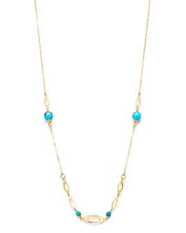 "Bloomingdale's - Turquoise Necklace in 14K Yellow Gold, 22"" - 100% Exclusive"