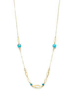 Bloomingdale's Turquoise Necklace in 14K Yellow Gold, 22 - 100% Exclusive