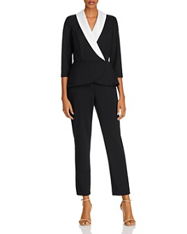 Adrianna Papell - Crepe and Satin Layered-Look Jumpsuit