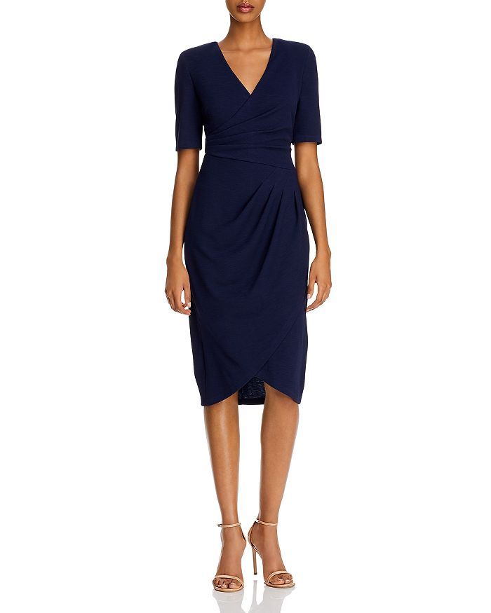 Adrianna Papell - Rio Ruched Knit Sheath Dress