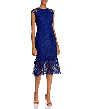 Shoshanna Cally Foral Lace Cap-Sleeve Dress