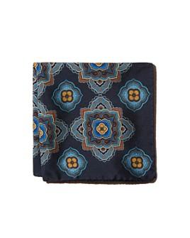 Eton - Florette Medallion Neat Silk Pocket Square