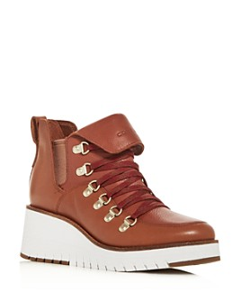 Cole Haan - Women's ZeroGrand Waterproof Wedge Hiker Booties