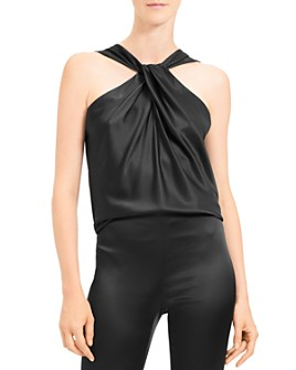 Theory - Twist-Front Silk-Stretch Top