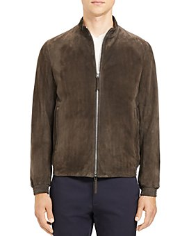 Theory - Tremont Regular Fit Suede Bomber Jacket