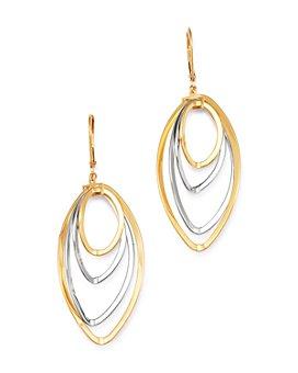 Bloomingdale's - Multi-Row Oval Hoop Earrings in 14K Yellow Gold - 100% Exclusive
