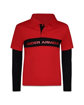 Under Armour - Boys' Layered-Look Polo Shirt - Little Kid
