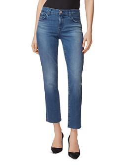 J Brand - Adele Ankle Straight-Leg Jeans in Sorority Raze