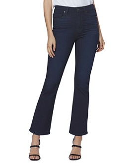 PAIGE - Claudine Ankle Flare Jeans in Telluride