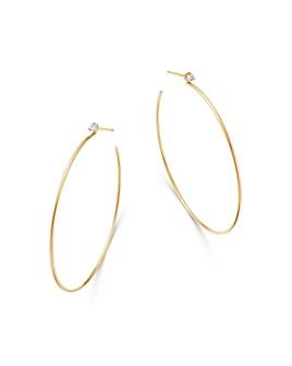 Zoë Chicco - 14K Yellow Gold Diamond Hoop Earrings