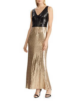 Ralph Lauren - Sequin V-Neck Gown