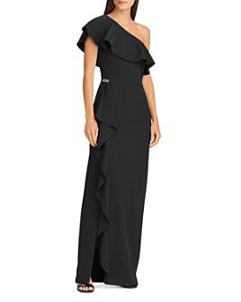 Ralph Lauren - Ruffled One-Shoulder Gown