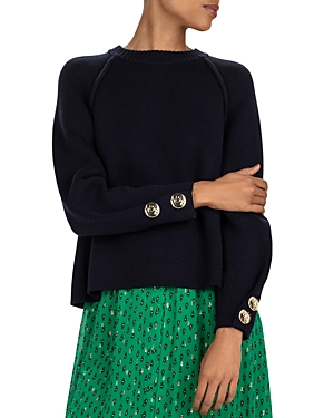 Ba&sh Sweaters BA & SH MILAN BUTTON-CUFF SWEATER