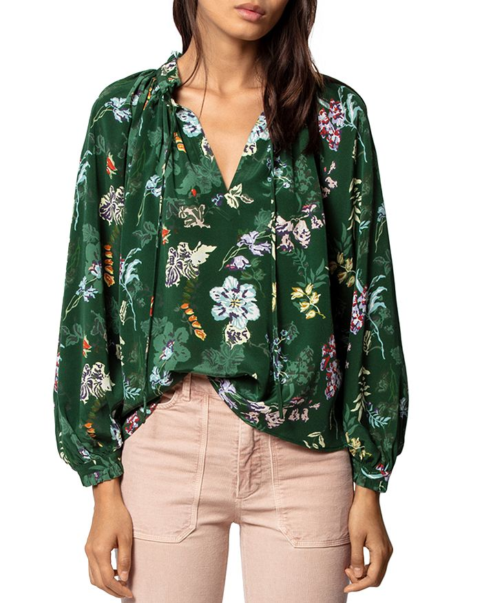 Zadig & Voltaire - Theresa Floral-Printed Silk Tunic