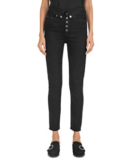 The Kooples - Mid-Rise Straight-Leg Button-Fly Jeans in Black