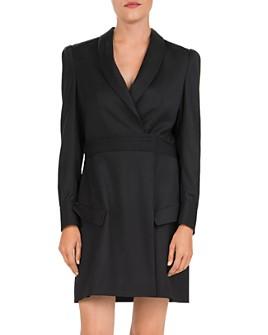 The Kooples - Shawl Collar Wool Wrap Dress