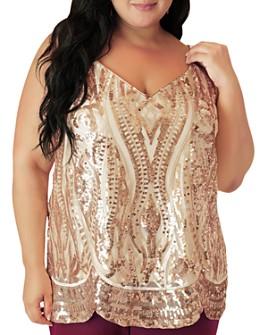 Maree Pour Toi Plus - Sequined Camisole Top