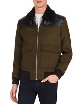 The Kooples - Orione Leather-Trimmed Jacket