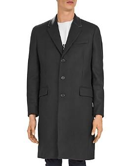 The Kooples - Feltro Leather-Collar Top Coat