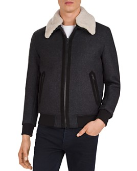 The Kooples - Redding Shearling-Collar Jacket