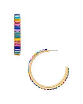 AQUA - Multicolored Crystal Baguette Hoop Earrings - 100% Exclusive
