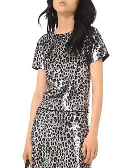 MICHAEL Michael Kors - Sequined Leopard Top