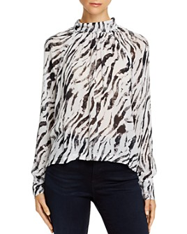Bella Dahl - Button-Back Zebra Print Top