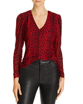 Notes du Nord - Naomi Leopard-Print Mesh Top