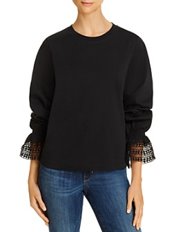See by Chloé - Lace Trim Long-Sleeve Tee