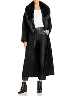 Anine Bing - Sasha Faux-Fur-Trimmed Coat