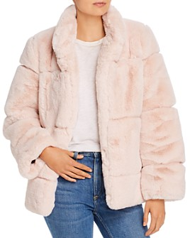 Apparis - Sarah Grooved Faux-Fur Coat