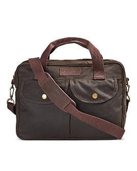 Barbour - Longthorpe Waxed Canvas Laptop Bag