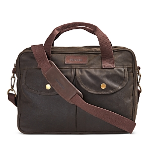 Barbour Longthorpe Waxed Canvas Laptop Bag