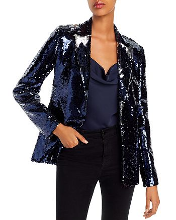 AQUA - Sequined Open-Front Blazer - 100% Exclusive