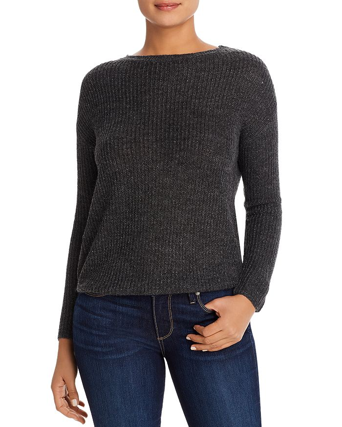 BeachLunchLounge - Luna Metallic Ribbed Sweater